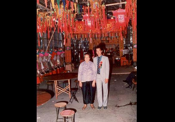 吳志榮與母親