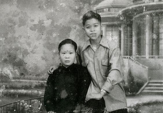 吳佛全夫妻的結婚照