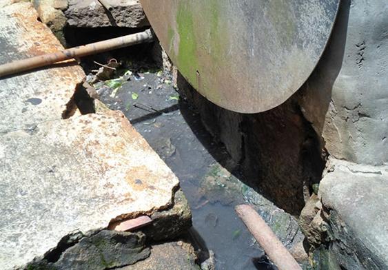 村内的污水